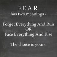 Image result for fear means